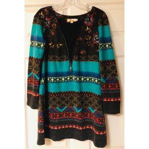 Aryeh Aztec sweater dress/tunic